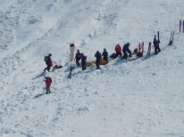 Blackcomb - an accident extraction on Couloir Extreme