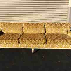 70s Sofa Florence Knoll Reproduction 2016 Gold Floral Gory Girl
