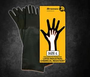 Black Rubber Glove Shoulder H255