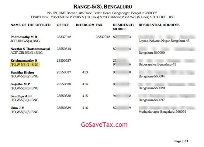 Range 5(3) Bangalore Address