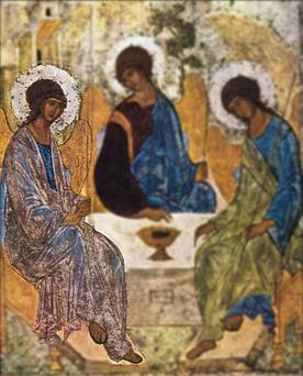 Kogo symbolizują trzej aniołowie?