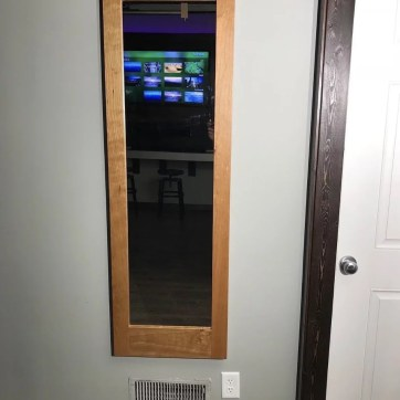 Cherry Secret Storage Mirror - Hidden Safe for Home