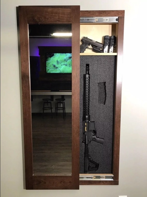 Espresso Secret Storage Mirror - Protect your Weapons