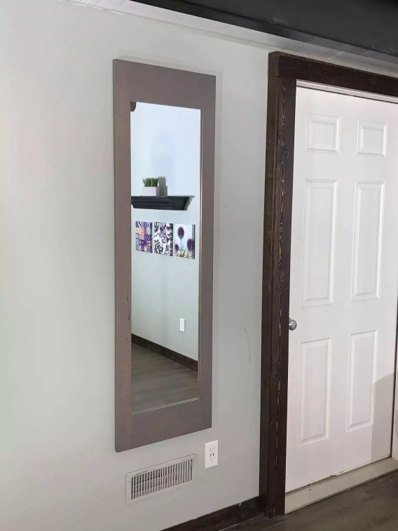 Gray Secret Storage Mirror - Protect your Weapons