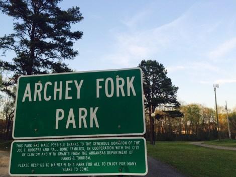 Archey Fork Park, Clinton Arkansas