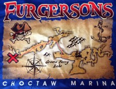Furgerson's Choctaw Marina Map Greers Ferry Lake 2