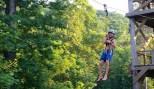 Ziplining at Rockpit Ranch Adventure Park, Clinton