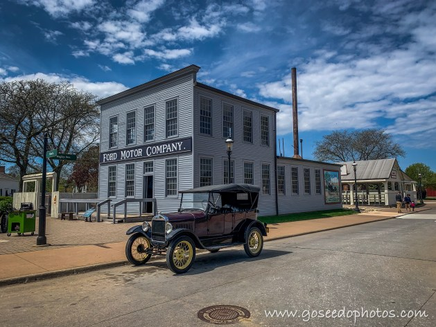 Model T in front of old Ford Motor Company