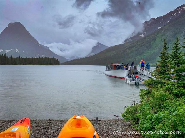 Kayaks on Two Medicine Lake