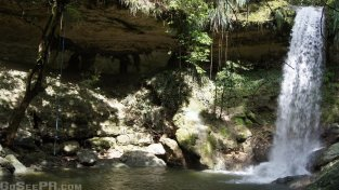 Gozalandia Upper Waterfall in San Sebastian PR 2