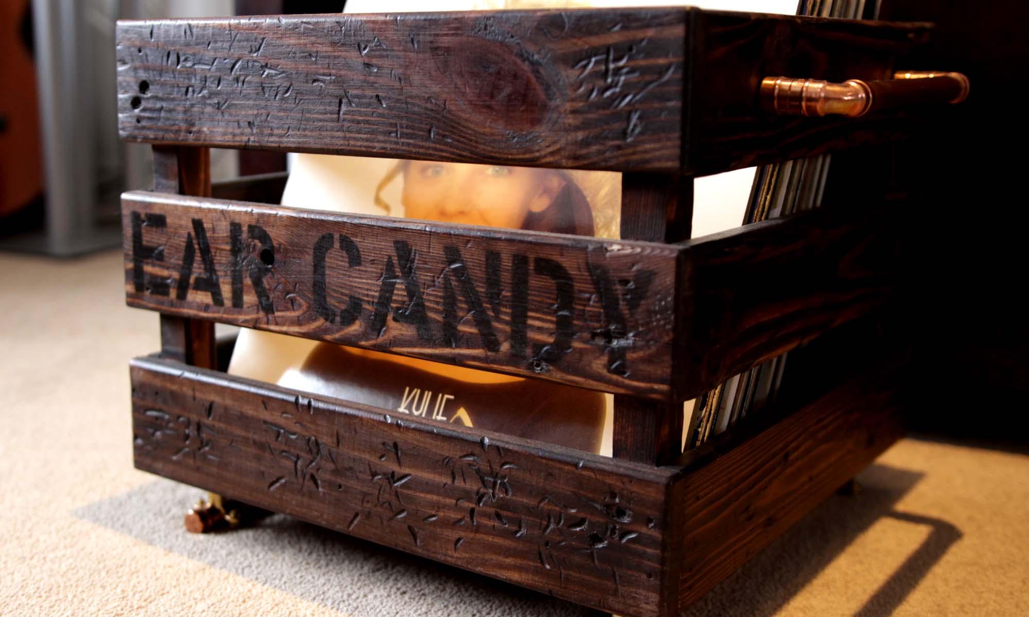 Vinyl Record Storage Crate