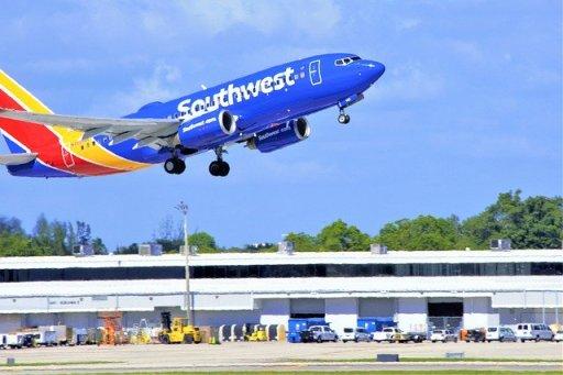 Airliner Takeoff Landing Gear Down