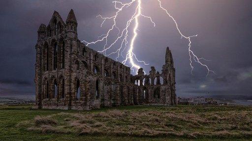 Whitby Abbey Dracula Lightning