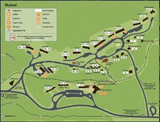 skyland map shenandoah national park cabins lodging skyline drive resort hotels maps property
