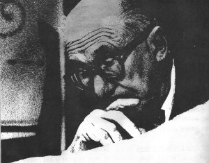 Face of Le Corbusier