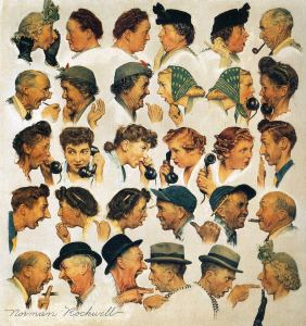 The Gossips by Norman Rockwell