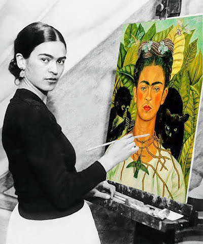 Frieda Painting Herself, Courtesy of the UMM