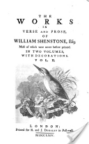 Shenstone Works Volume 2 - William Shenstone book