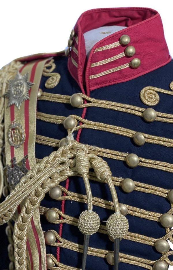 Men's Steampunk Ceremonial Hussar Military Officers Jacket. chest