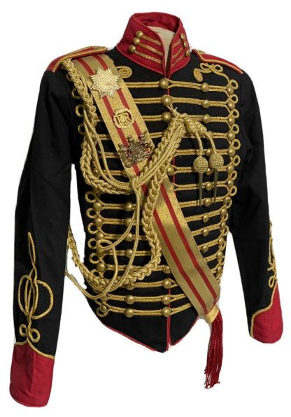 Men's Steampunk Ceremonial Hussar Military Officers Jacket. angel