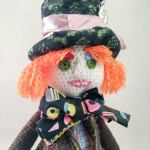 The Mad Hatter Amigurumi Doll. closeup