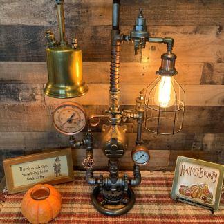 Vintage Machine Age Steampunk Lamp. 1