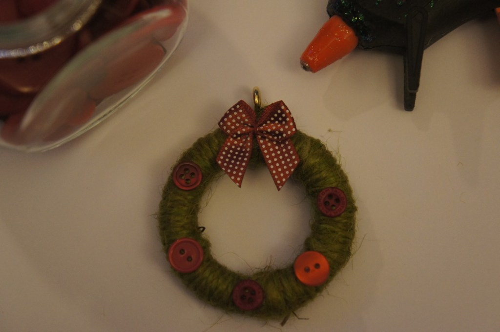 Mini wreath finished