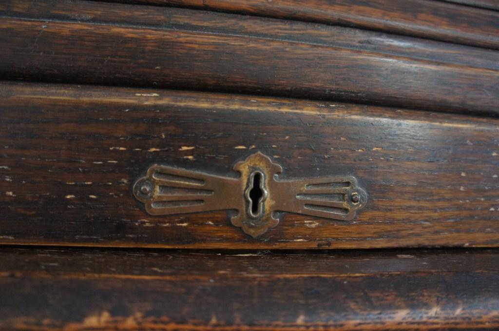 Roll top desk lock