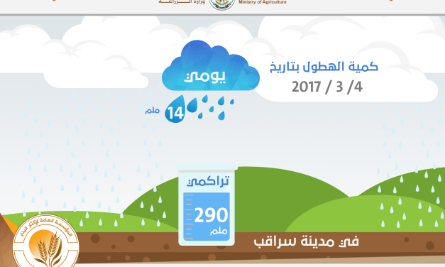 Infographic of Rainfall on 4/3/2017