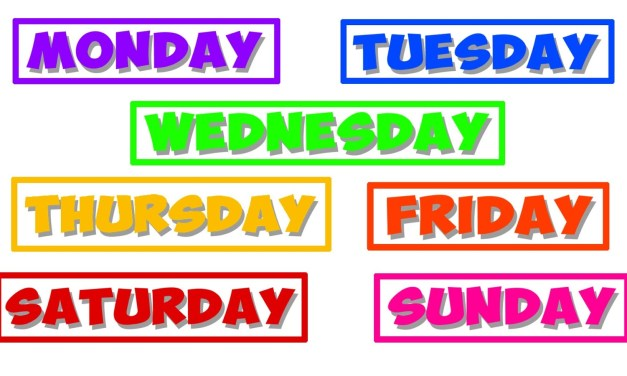 LET'S LEARN DAYS OF THE WEEK