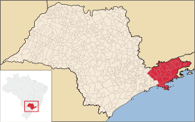 Metro area in São Paulo state. Source: Wikipedia