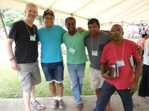Randal and Douglas with brothers from Rio de Janeiro