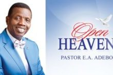 Open Heaven 23 March 2021 By Pastor E. A. Adeboye TOPIC: Signs Of Backsliding II