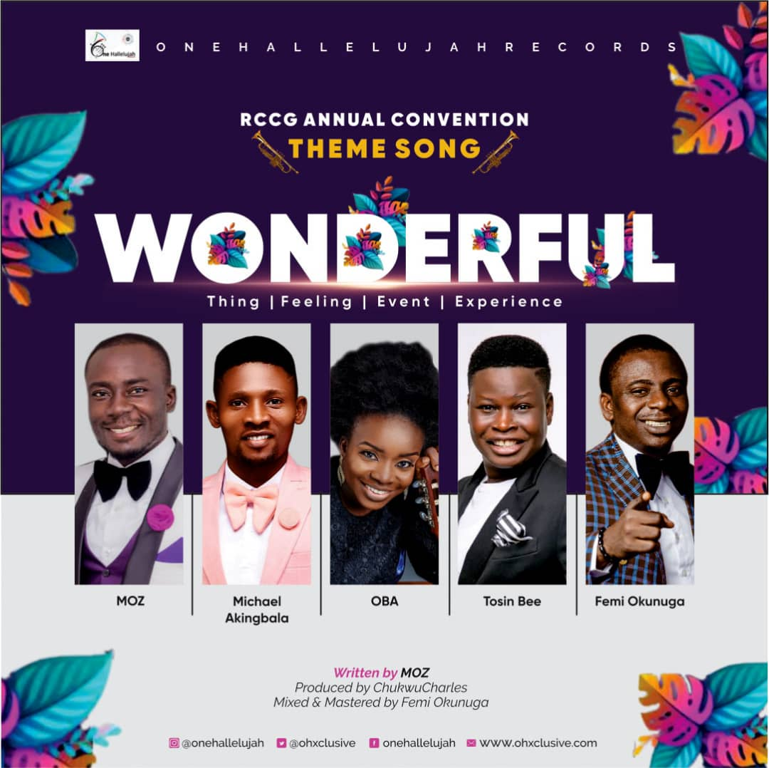Wonderful-–-One-Halleluyah-Records [MP3 DOWNLOAD] Wonderful – One Halleluyah Records Ft. MOZ, Femi Okunuga, Tosin Bee, Oba & Michael Akingbala