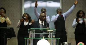 Minister Of State Petroleum Resources Worships At Tunde Bakare's Church