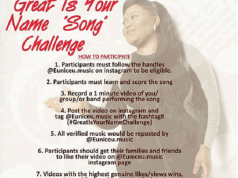 Eunice U. Present 'Great is Your Name Song Challenge'