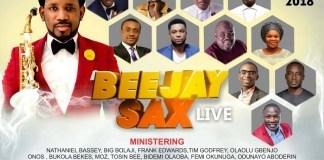 BeejaySaxLive 2018 Artiste LineUp Unveiled