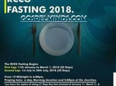 RCCG 21 Days Fasting and Prayer