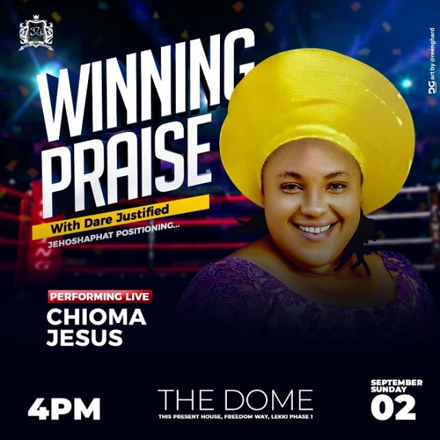 Chioma Jesus at Winning Praise 3.0 with Dare Justified