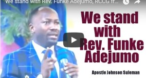 We stand with Rev. Funke Adejumo