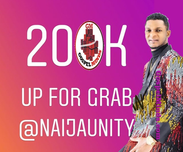 200K Up for Grab Follow Naijaunity by Joe Praize