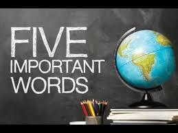 The Grace Imposter Addresses Part 23: Five Important Words
