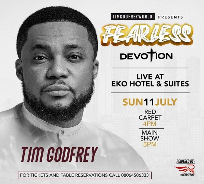 """See Lists Of Artists Performing At """"FEARLESS"""" Concert 2021 With Tim Godfrey."""
