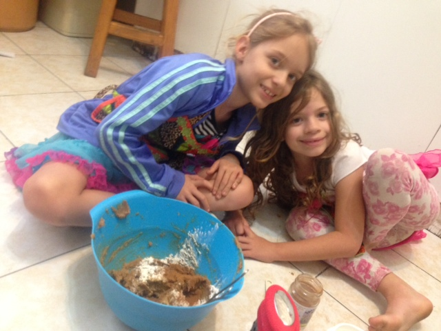 12.08-making gingerbread dough with these cuties