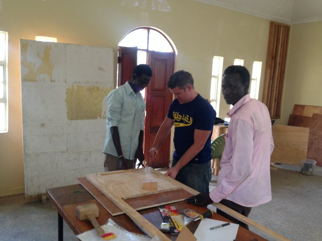 02.16-Last day (for J--) of working on a carpentry project with the youth for a secondary school in South Sudan...grateful for a skilled husband