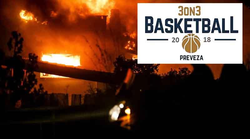 Πρόσφεραν τα έσοδα από το 3on3 Πρέβεζας στους πληγέντες των φονικών πυρκαγιών στην Αττική