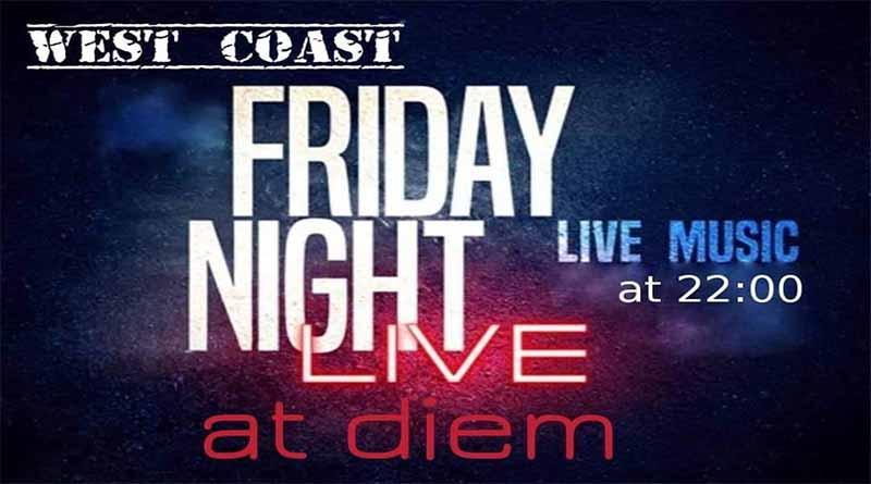 Την Παρασκευή 7/12  οι West Coast Live στο Diem Espresso Bar