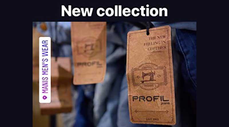 Nέα κολεξιόν Τζην Profil στο κατάστημα Μanis Μens Wear