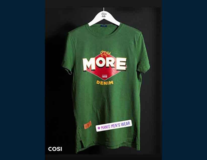 Mακό καλοκαιρινά μπλουζάκια Cosi στο κατάστημα Manis Mens Wear