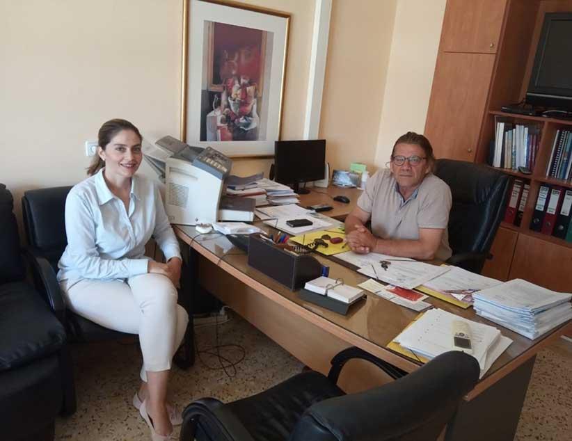 Επισκέψεις στο Διοικητή του Νοσοκομείου Πρέβεζας και στα γραφεία του ΕΚΑΒ για την Υποψήφια Βουλευτή της ΝΔ Σέβης Κονταξή – Νάση